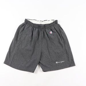 80s Champion Mens Large Spell Out Dad Shorts Gray